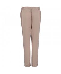 Eleganckie zwiewne spodnie WSK - 7949 beż