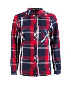 Koszula w kratkę WCS-9071 czerwona