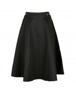 Rozkloszowana spódnica midi WQZ-975 czarna