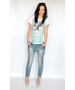 Jeansy przecierane SP14 niebieskie