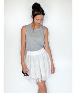 Efektowna spódnica ks01 biała