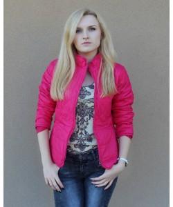 Damska pikowana kurtka KU03 Róż