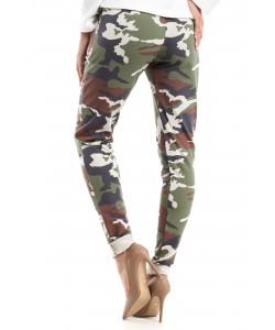 Spodnie moro z elastycznym paskiem MOE239 3 kolory moro