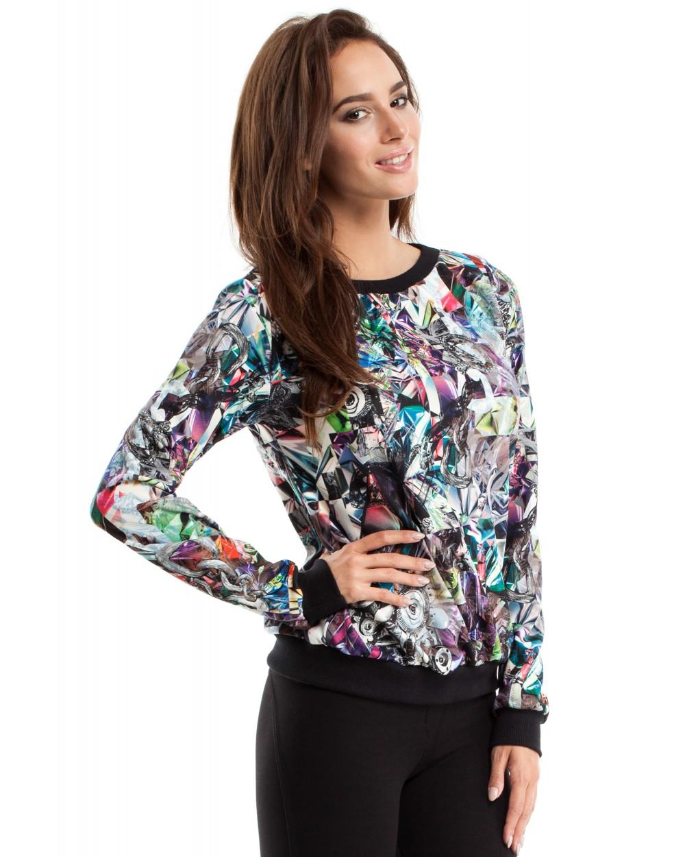 Kolorowa bluza MOE264 Dwa wzory
