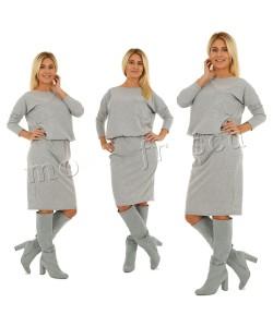 Sukienka z dzianiny M905 Trzy kolory