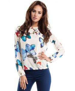 Bluzka w motyle MOE253 Dwa kolory