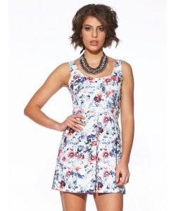 Kwiecista sukienka WYQ-8483 multicolor