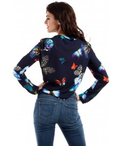 Piękna bluzka z plisą MOE223 Dwa kolory