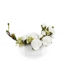 Stroik ślubny, półwianek, na grzebyku, half-wreath, sklep online