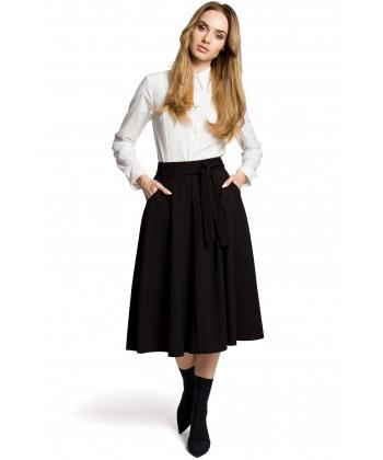 Rozkloszowana spódnica midi czarna