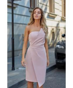 Sukienka damska o asymetrycznym kroju na wesele