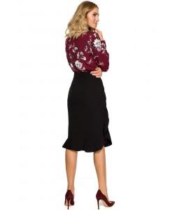 Damska ołówkowa spódnica w czarnym kolorze