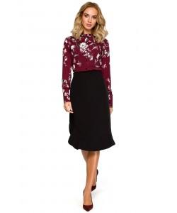 Bluzki dla kobiet w kwiaty koszulowe eleganckie