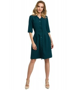 Sukienka damska elegancka do biura na guziki