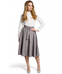 Damska spódnica z paskiem w talii