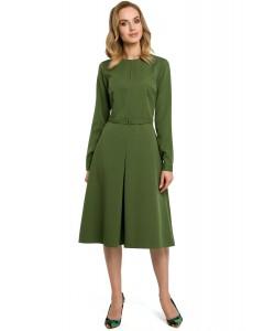 Sukienka damska klasyczna elegancka zielona do pracy