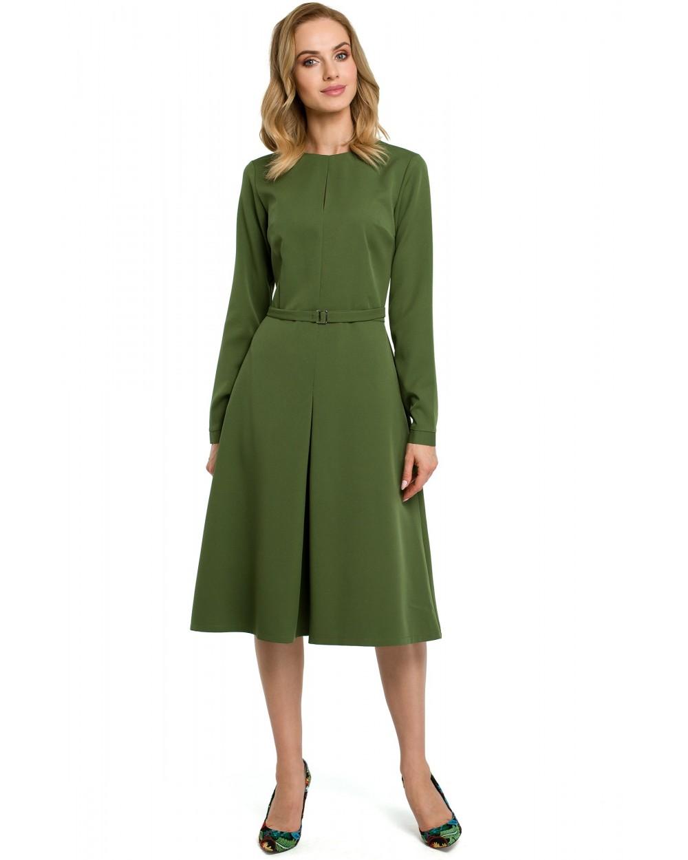 e11930cca3 Sukienka damska klasyczna elegancka zielona do pracy sklep online