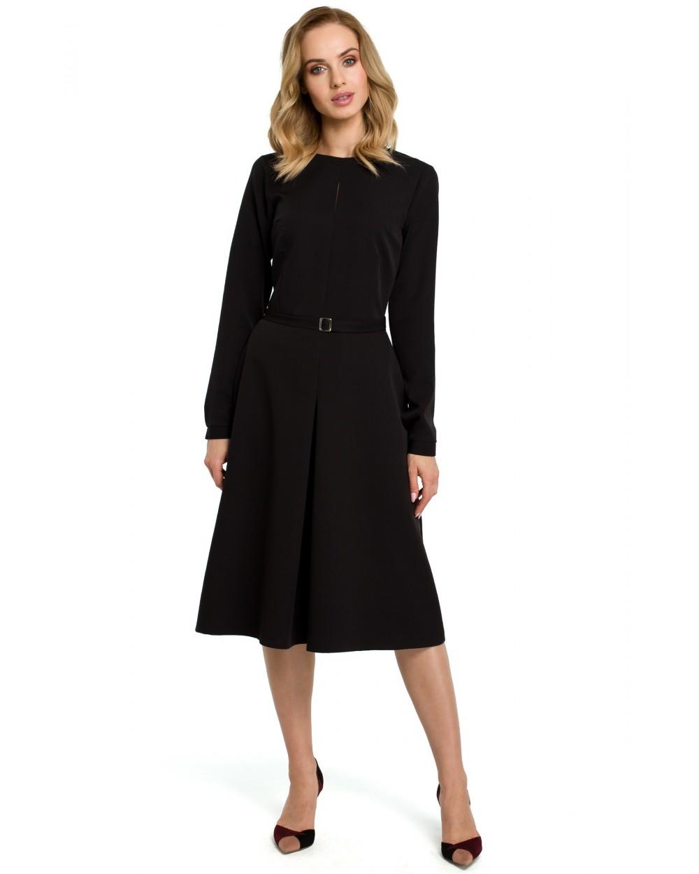 de6892b95 Sukienki damskie eleganckie klasyczne midi czarne sklep Slango