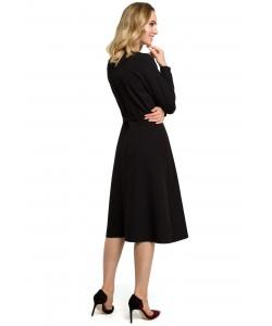 Sukienki damskie eleganckie klasyczne midi czarne sklep Slango