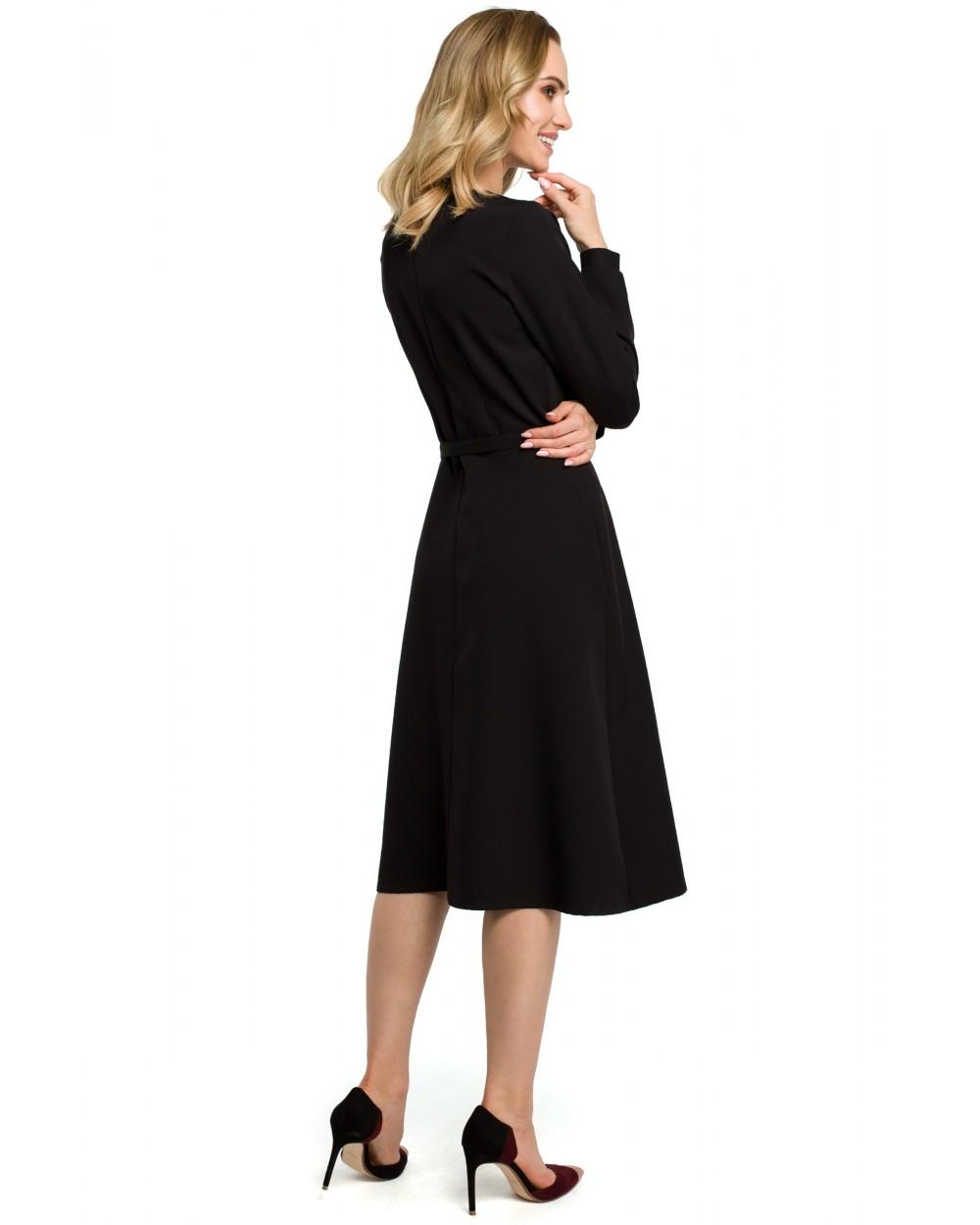 a044a8287 ... Sukienki damskie eleganckie klasyczne midi czarne sklep Slango 1