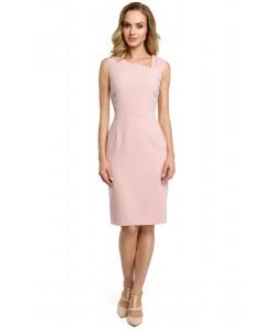 Sukienka damska ołówkowa dopasowana różowa elegancka