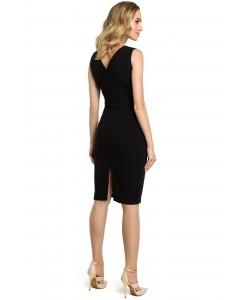 Sukienka damska czarna wieczorowa ołówkowa elegancka