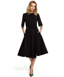 Sukienka damska czarna elegancka za kolano