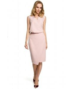 Sukienka damska elegancka ołówkowa różowa na wieczór