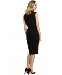 Sukienka damska czarna elegancka do biura na wieczór