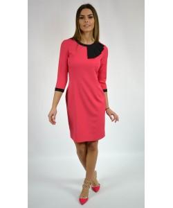 Sukienka damska elegancka o prostym kroju różowa