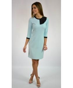 Sukienka damska w kolorze błękitnym elegancka na wesele