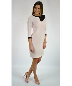 Sukienka damska elegancka w kolorze łososiowym wizytowa