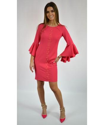 8ee7e364fc Sukienka damska elegancka z falbanami na rękawach sklep internetowy
