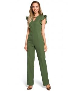 Kombinezon damski elegancki wizytowy zielony