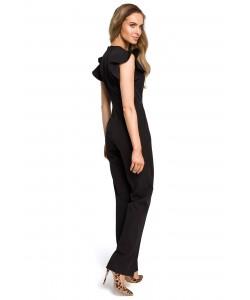 Kombinezon damski w kolorze czarnym w kant elegancki