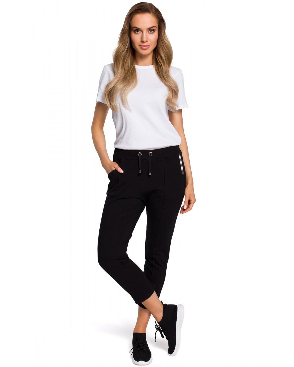 Spodnie damskie 78 ecru bawełniane sportowe sklep online