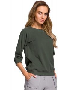 Bluza damska w kolorze khaki sportowa luźna