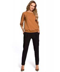 Bluza damska sportowa karmelowa brązowa na co dzień