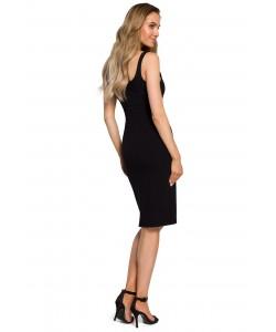 Sukienka damska czarna na co dzień ołówkowa dopasowana