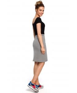 Spódnica damska w kolorze szarym sportowa dresowa