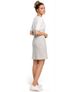 Sukienka damska ołówkowa sportowa szara bawełniana