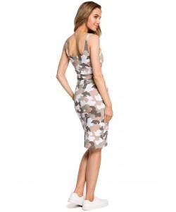 Sukienka damska moro dopasowana na co dzień