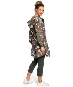 Bluza damska moro oversize z kapturem modna