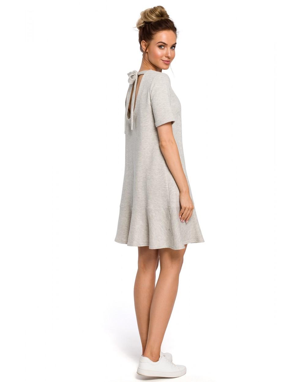 Sukienka damska oversize szara trapezowa sklep internetowy