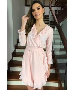 Kopertowa sukienka Izolda - łososiowa