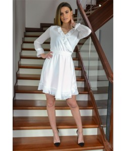 Kopertowa sukienka Izolda - biała