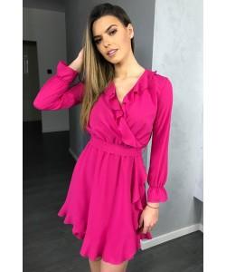 Kopertowa sukienka Izolda - fuksja