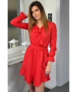 Kopertowa sukienka Izolda - czerwona