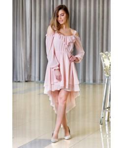 Asymetryczna sukienka Suzana - łososiowa