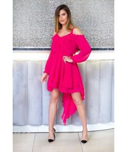 Asymetryczna sukienka Suzana - fuksja